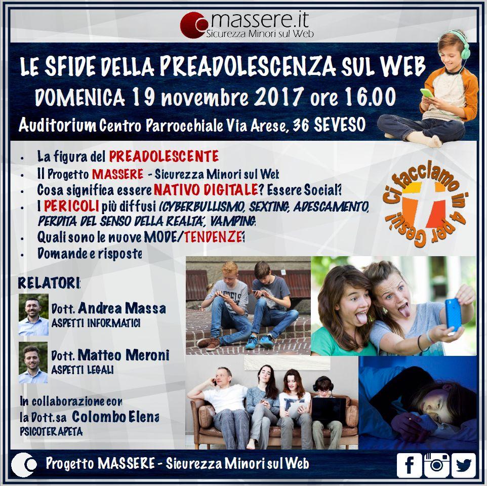 Progetto MASSERE - Incontro Genitori a Seveso (Andrea Massa)